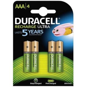 Rechargeable batteries Duracell AAA Micro 900mAh (4 Pcs)