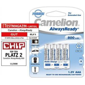 Camelion Rechargeable batteries Always Ready Micro AAA 800mAh (4 pcs)