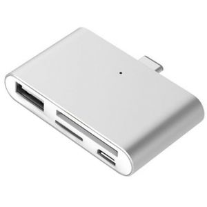 USB Type-C Smart Reader for microSD. SD. USB. USB Micro (Silver)
