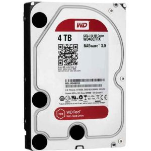 WD Red NAS Hard Drive 4 TB intern 3.5 HDD WD40EFRX